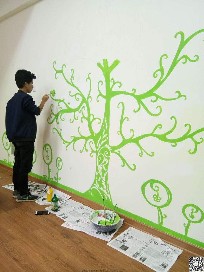 墙绘图片素材 树木