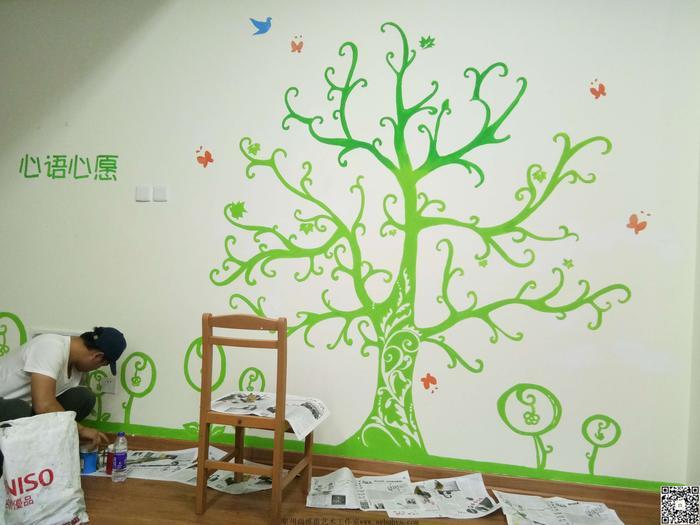 【尚雅惠墙绘艺术工作室】泉州市 心理站 墙绘项目